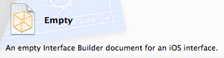 Add Empty Interface Builder document